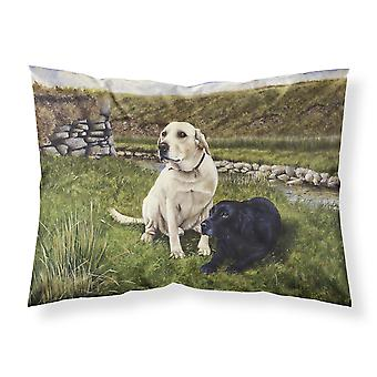 Yellow and Black Labradors Fabric Standard Pillowcase