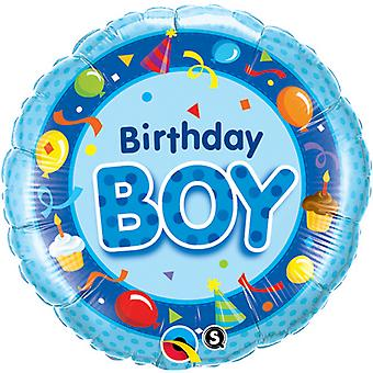 Qualatex 18 Inch Circular Foil Birthday Boy Balloon