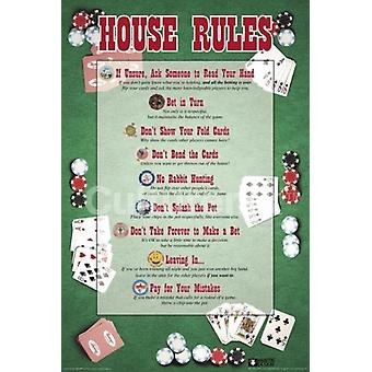 House Rules - Poker Poster Poster Print