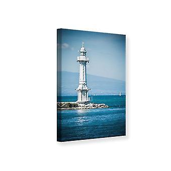 Canvas Print Photowallpaper Geneva Lighthouse
