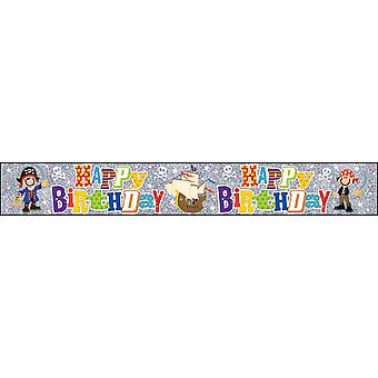 Simon Elvin Childrens/Kids Happy Birthday Character Design Foil Banner