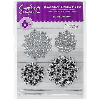 Crafter's Companion Stamps by Chloe Stamp & Die Set-3D Flowers CCSTDC-3DF