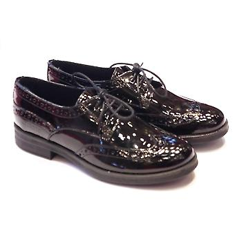 Geox Geox Agata Patent Lace Up Brogue