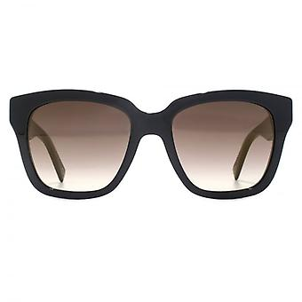 Marc Jacobs Square Sunglasses In Black On Violet Glitter Animal