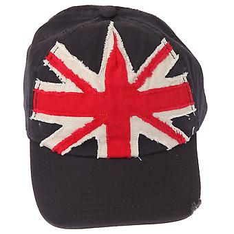 Union Jack GB Distressed Baseball Cap With Adjustable Strap