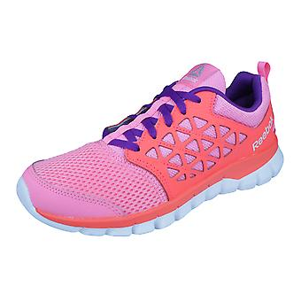 Reebok Sublite XT Cushion 2.0 Girls Running Trainers / Shoes - Pink