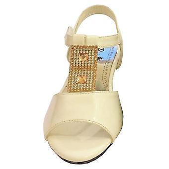 Infant Girls Low Heel Wedding Dress Bridesmaid Velcro Sandals Shoes
