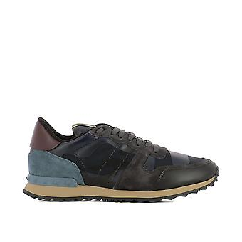 Valentino mens PY2S0723TCCM14 Blau fabric of sneakers