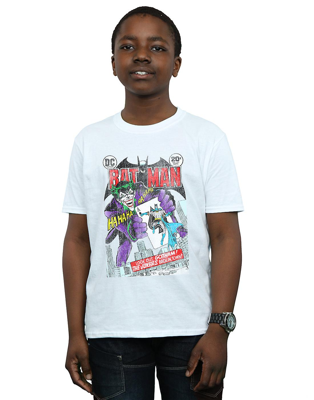 DC Comics jongens Batman Joker speelkaart Cover T-Shirt