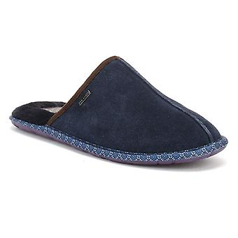 Ted Baker Mens Dark Blue Suede Youngi 2 Slippers