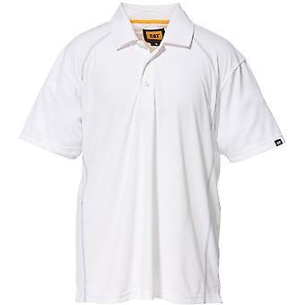Caterpillar Mens prestaties Polyester Pique Polo Shirt Wit