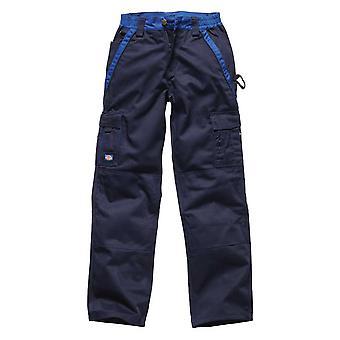 Industria de Dickies para hombre 300 dos tono de ropa de trabajo pantalones azul marino IN30030N