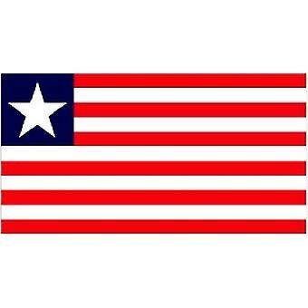 Liberias flagg 5 ft x 3 ft med hull For hengende