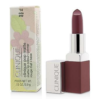 Clinique Pop Matte Lip Colour + Primer - # 14 Cute Pop - 3.9g/0.13oz
