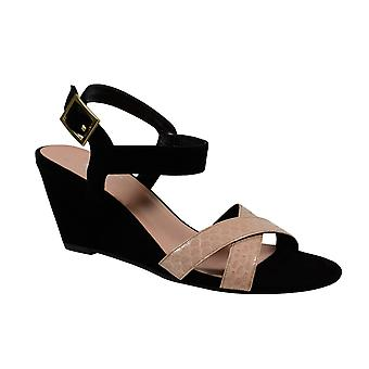 Waooh - Shoes - leather wedge sandal The Divine Factory TDFC550