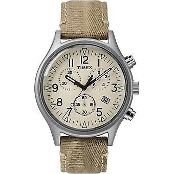 Timex menns ur MK1 stål Chronograph 42 mm stoff armbånd TW2R68500