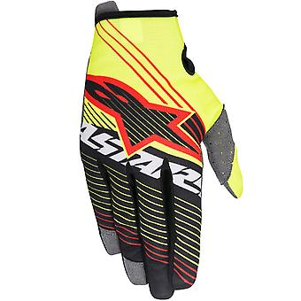 Alpinestars Fluorescent-Black 2017 Radar Tracker Kids MX Gloves