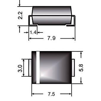 Semikron snel Si gelijkrichter FR3M doen 214AB 1000 V 3 A