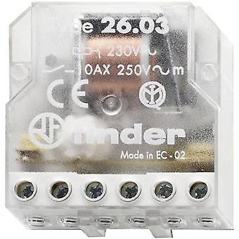 Finder 26.03.8.230.0000 10A Step Relay 26.03.8.230.0000 230 V AC SPST-NO + SPST-NC 10 A Max(AC1) 2500 VA/