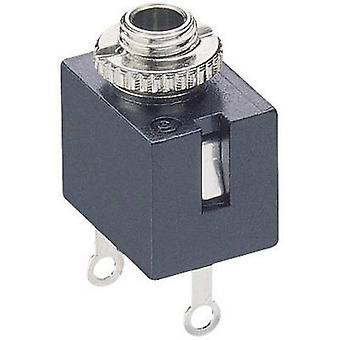 Lumberg KLB 1 2,5 mm ljudutgång uttag, vertikal vertikal antal stift: 2 Mono svart 1 dator