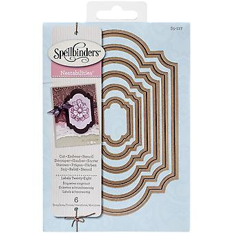 Spellbinders Nestabilities Dies-Labels 28