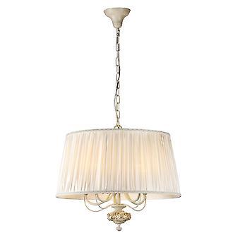 Maytoni illuminazione Olivia ombra aperta avorio bianco elegante soffitto ciondolo