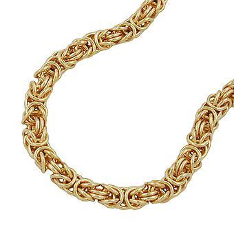 Koning chain bracelet AMD ronde 5 mm vergulde 21 cm