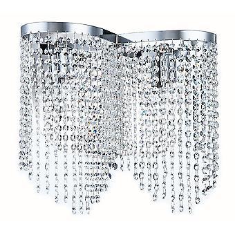 Maytoni Lighting Toils Diamant Crystal Sconce, Nickel