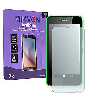 Nokia  Lumia 630 Dual Sim Screen Protector - Mikvon AntiSun (Retail Package with accessories) (intentionally smaller than the display due to its curved surface)