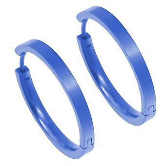 Ti2 Titanium middellange vol Hoop Earrings Hoop Earrings - marineblauw