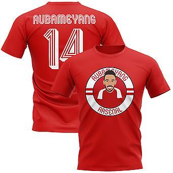 Pierre-emerick Aubameyang Arsenal ilustración camiseta (rojo)