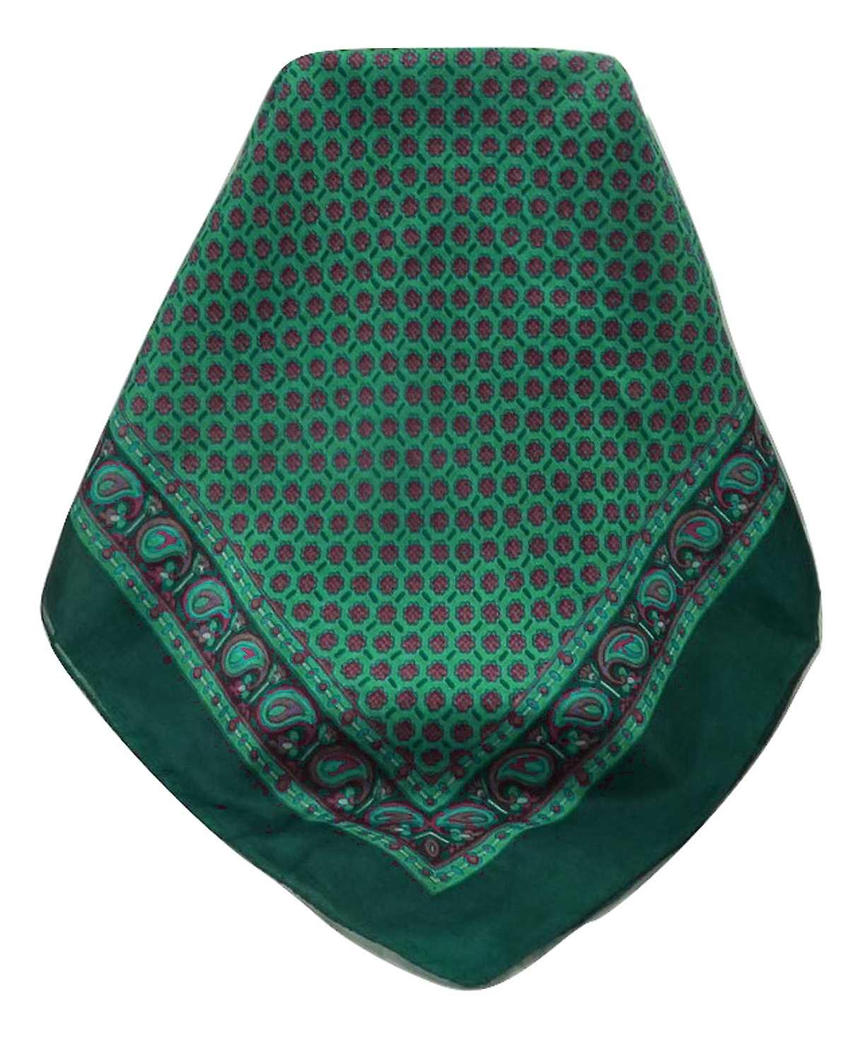 Mulberry Silk Contemporary Square Scarf Lohit Teal by Pashmina & Silk