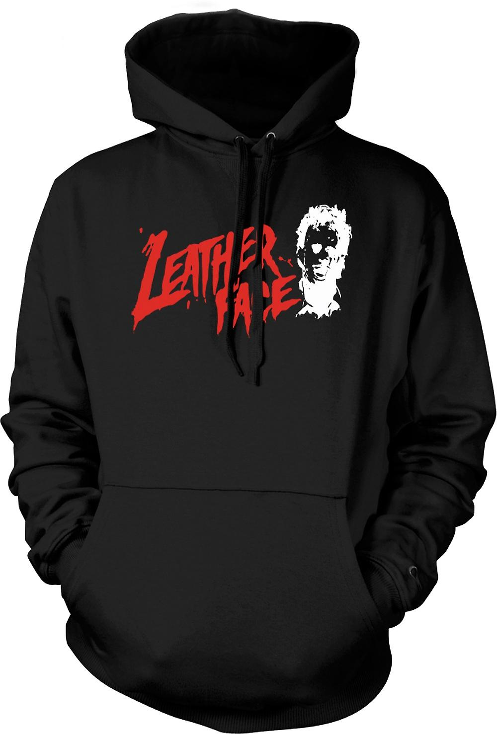 Mens Hoodie - Leather Face - Texas Chainsaw - Horror