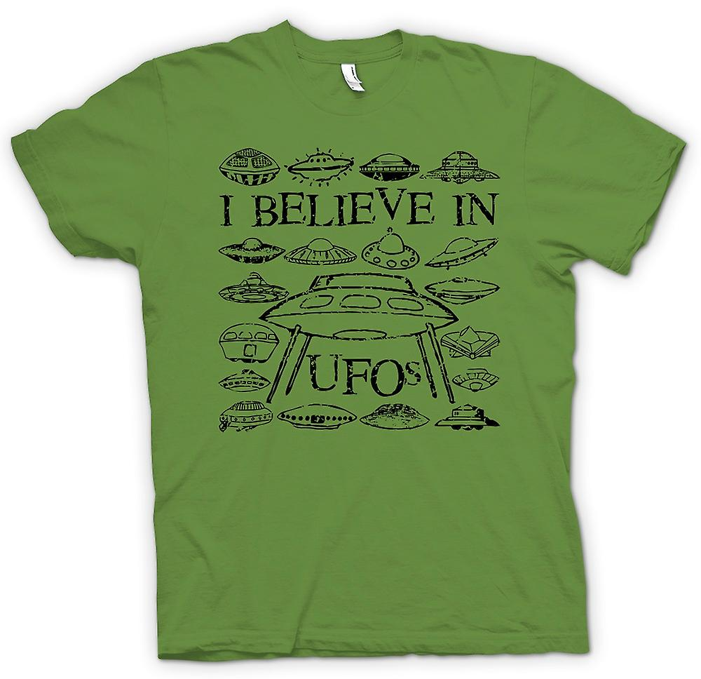 Mens T-shirt - I Believe In UFOs - Funny