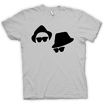 Mens T-shirt-Blues Brothers gezichten
