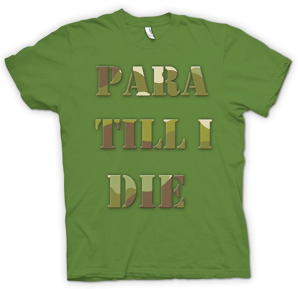 Mens t-shirt-Para Till I Die - Elite