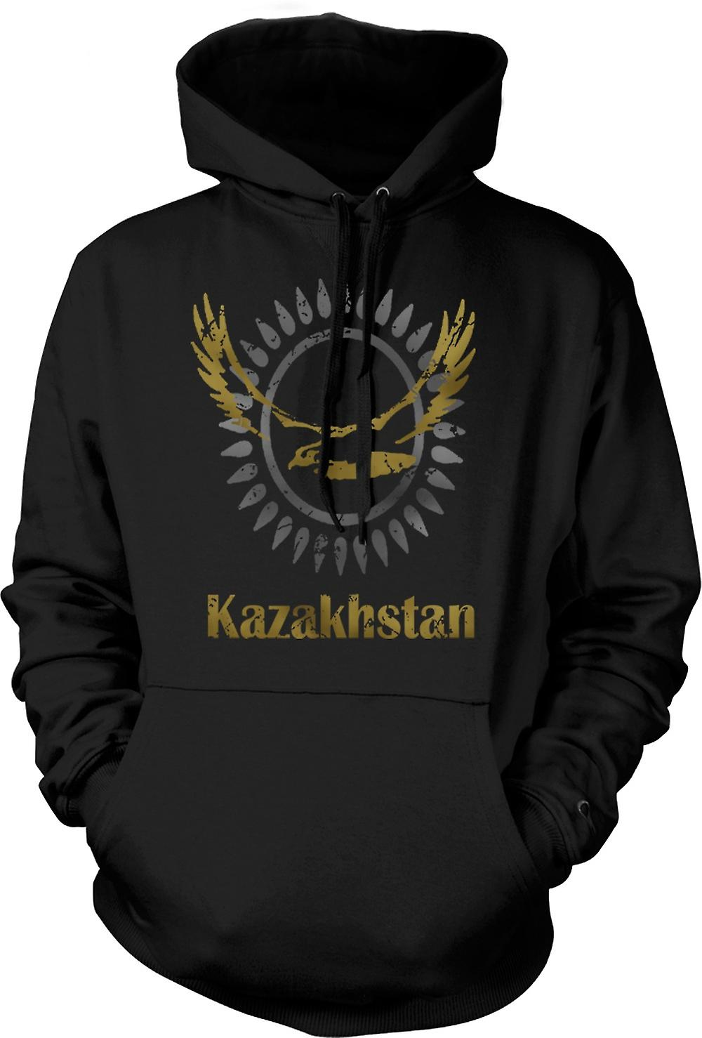 Barna hettegenser - Kasakhstan - Cool Design Funny