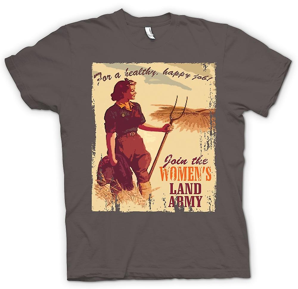 Womens T-shirt - Join The Womens Land Army