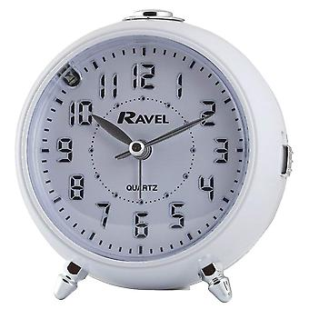 Ravel Quartz LED Silent Sweep Snooze Licht, Crescendo, Beep Wecker RC006.04