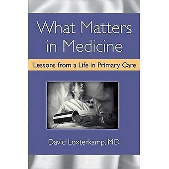 Ce qui est important en médecine