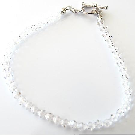 Wedding Bridal Clear Crystals Bracelet Swarovski Crystals Bracelet