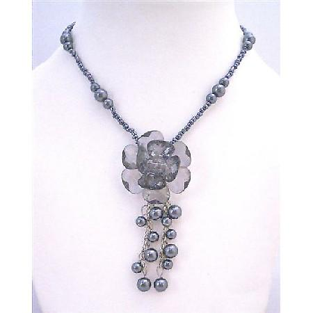 Christmas Gift Jewelry Party Affordable Black Pearl Beads Necklace