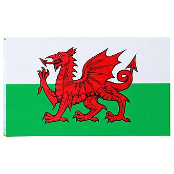 Large Welsh National Flag with Rings 90x150cm Hanging Banner for Sporting Events and National Celebrations TRIXES
