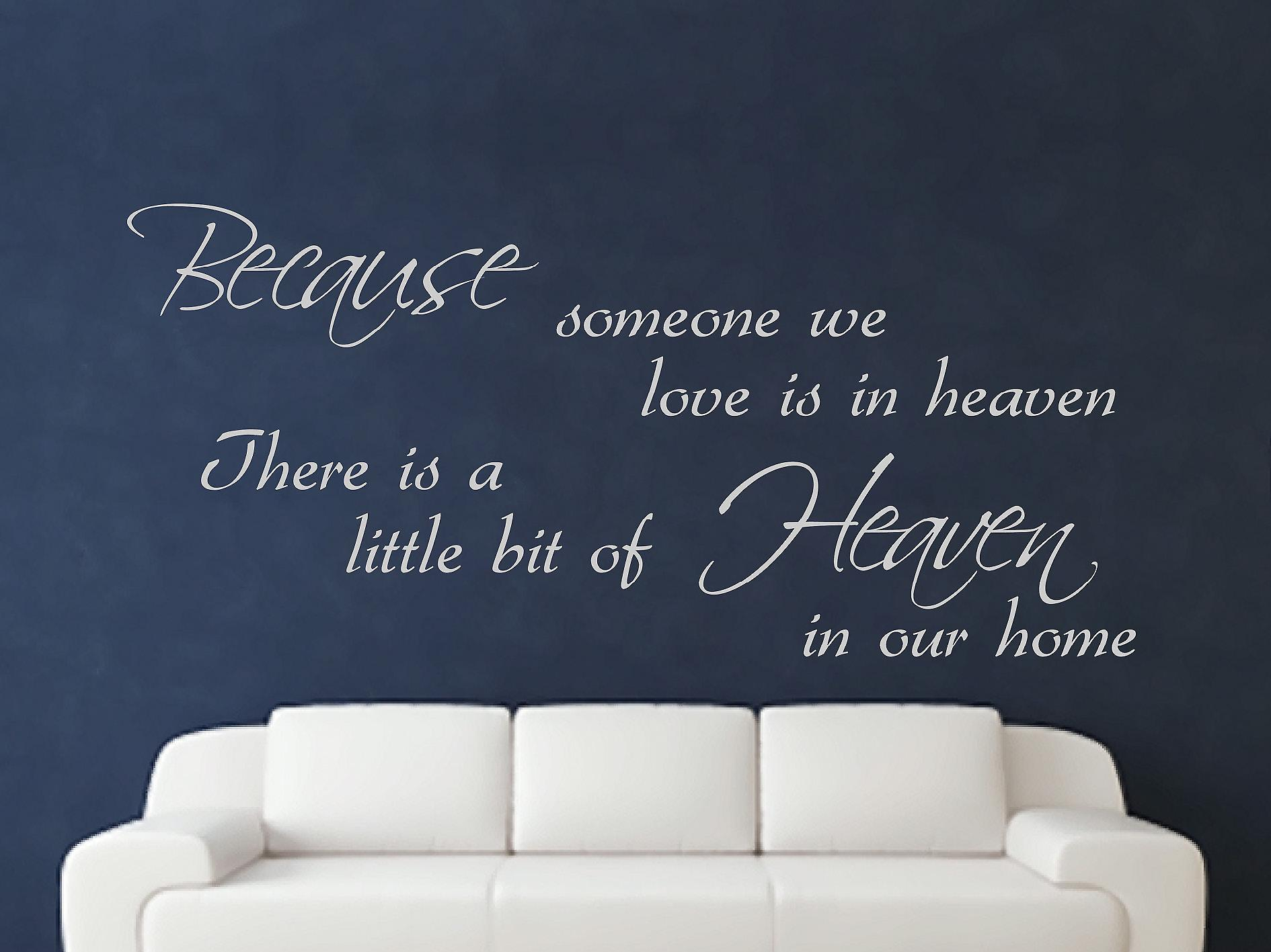Because Someone Wall Art Sticker - Grey