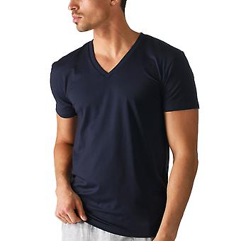 Mey Men 46507-668 Men's Dry Cotton Colour Yacht Blue Short Sleeve Top