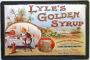 Lyles Golden Syrup tea party embossed steel sign