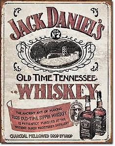 Jack Daniels Tennessee Whiskey metal sign (pt)