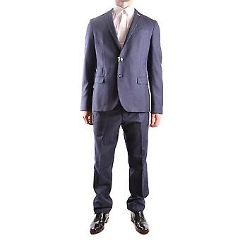 Manuel Ritz Blue Cotton Suit