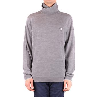 Fred Perry Grey Wool Sweater