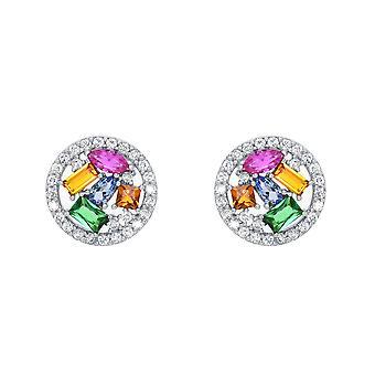 Ah! Smycken Crystal från Swarovski flerfärgat Cocktail örhängen